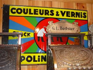Couleurs Vernis Paint Sign paint advertising porcelain sign